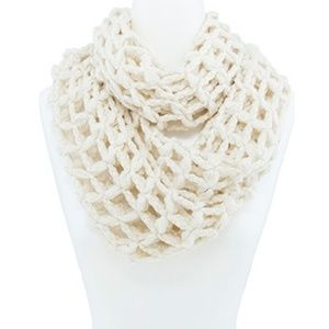 Accessories - Super Soft Loose Waffle Knit Infinity Scarf